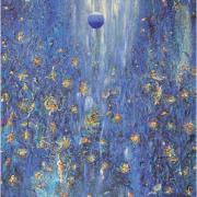3-Blue Moon Magic Ocean Sky, 2006 RM 33,000.00-SOLD   Acrylic on canvas   132 x 110 cm