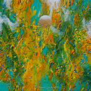 "8-RM 3,300.00-SOLD LOT 8 Ismail Latiff ""Danau Dingin No. 2"" (2011) Acrylic on canvas 48 x 48 cm RM 2,500 - RM 6,000"