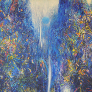 11-Waterdance …Blue Night Dreams, 1999 RM 60,500.00-SOLD | Acrylic on canvas | 140 x 180 cm