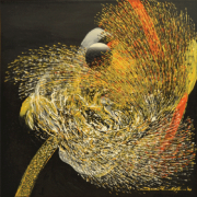 20-RM 5,500.00 Lot 69 Ismail Latiff Magical Movement... Night Bird Paradise...View No. 2, 2001 Acrylic on canvas 65 x 65 cm