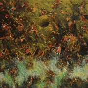 21-Waterdance.. Golden Night Magic, 2000 RM 8,800.00-SOLD | Acrylic on canvas | 63 x 63 cm