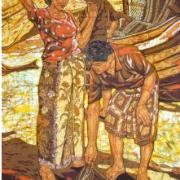 16-Di Tepi Pantai, 2011 RM 27,500.00-SOLD | Batik | 115 x 87cm
