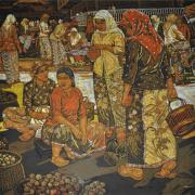 17-Market Scene, 2009 RM 30,800.00-SOLD | Batik | 100.5 x 112 cm