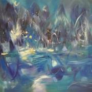 1-Rythms of silence, 2002 RM 4,950.00-SOLD | Acrylic on canvas | 97 x 130 cm