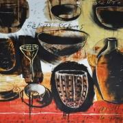 1-Bekas-bekas, 1999 RM 19,800.00-SOLD | Mixed media on paper | 78 x 98.5 cm