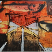 2-Non Romatical Fish Painting, 1999 RM 17,600.00-SOLD   Mixed media on paper   78.5 x 99.5 cm