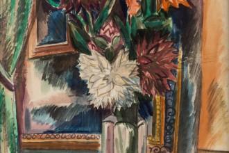 Lot-58-Jean-Dufy-22Bouquet-de-Fleurs22-1920-pencil-and-watercolor-on-paper-laid-down-on-board-56.8-x-46.3-cm