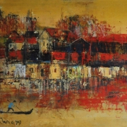 3-Untitled, 1979 RM 4,620.00-SOLD | Oil on board | 32.5x 23.5 cm