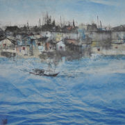 2-Fishing Village, 1992 RM 6,600.00-SOLD | Ink and watercolour on paper | 36 x 56 cm