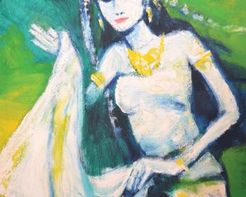 Lot-86-Jeihan-Sukmantoro-Si-Penari-2009-Oil-on-canvas-90-x-70cm