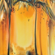 7-Palms at Titiwangsa, 2005 RM 66,000.00-SOLD | Oil and acrylic on canvas | 170 x 107 cm