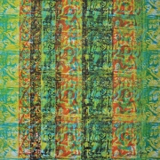 2-Apsaras, 2008 RM 8,960.00-SOLD | Mixed media on canvas | 129 x 129 cm