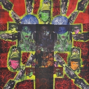 1-Belawing ! (4 Heads), 1994 RM 13,200.00-SOLD | Mixed media on canvas | 146.5 x 136 cm