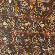 60-Kelvin-Chap,-Symbol-of-Mother-Earth-(Borneo-Series),-2005,-Mixed-media-on-canvas,-131-x-131-cm,-Name,-title-and-dated-on-verso