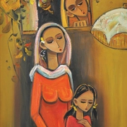 11-A Mother's Love, 2012 RM 8,250.00-SOLD | Oil on canvas| 76.5 x 48 cm