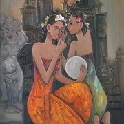 13-Balinese Girls, 2010 RM 10,640.00-SOLD |Oil on canvas | 95 x 76 cm
