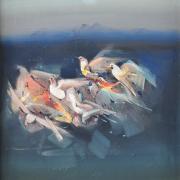 16-RM 6,160 Doves Nesting Oil on canvas 75 x 55 cm
