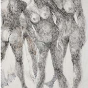 11-Nude Sketch, 2001 RM 7,700.00-SOLD | Ink on paper | 59 x 29 cm
