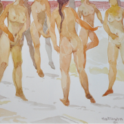 14-Nude Series, 1989 RM 8,250.00-SOLD | Watercolour on paper | 26 x 35 cm