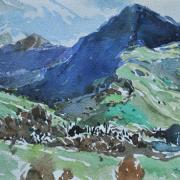 """18-RM 2,650.00-SOLD Khalil Ibrahim """"Swiss Landscape"""" (1987) Watercolour on paper 30.5 x 23 cm RM 3,000 - RM 6,000"""