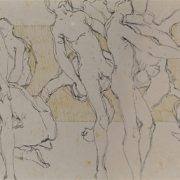 23-Study of Figures, 1983 RM 6,050.00-SOLD | Mixed media on paper | 10 x 55 cm