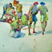 25-East Coast Fisherman, 1980s RM 6,600.00-SOLD | Watercolour on paper | 24.5 x 29.5 cm