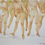 27-Nude Series, 1986 RM 6,050.00-SOLD | Watercolour on Paper | 26 x 35 cm