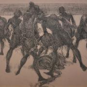 28-Nelayan Pantai Timur II, 1991 RM 13,200.00-SOLD | Ink on paper | 37 x 46 cm