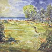 31-East coast bachok landscape, 2007 RM 7,700.00-SOLD | Watercolour on paper | 42 x 59 cm