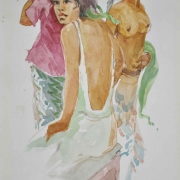 35-Bali Nude Series, 2007 RM 6,600.00-SOLD | Watercolour on paper | 30 x 21 cm
