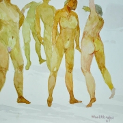 38-Nude Series, 1987 RM 4,400.00-SOLD | Watercolour on paper | 26 x 35 cm