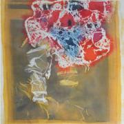 4-Abstract, 1983 RM 23,100.00-SOLD | Batik | 103.5 x 98 cm