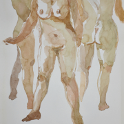 44-Nude Series, 2006 RM 3,360.00-SOLD | Watercolour on paper | 30 x 21 cm