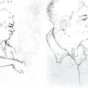 Khalil-Ibrahim-Portrait-Study-V-Portrait-Study-VI-1980s-1990s-Ink-on-paper-12-x9-cm-x-2-pcs