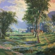 Khalil-Ibrahim-_East-Coast-Imaginary-Landscape_-1997-52cm-x-79-cm-Oil-on-Canvas-1