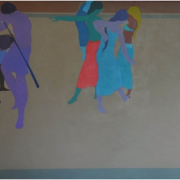 8-Contemplation, 1981 RM 52,800.00-SOLD   Acylic on canvas   91 x 122 cm