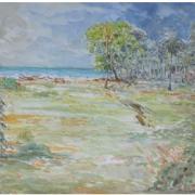 9-East Coast Bachok Landscape, 2007 RM 13,400.00-SOLD   Watercolour on paper   59 x 42 cm