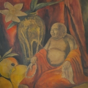 6-Laughing Buddha, Undated RM 7,150.00-SOLD | Watercolour on paper | 39 x 36 cm