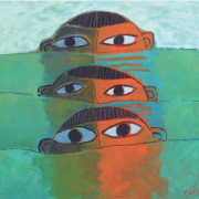 1-Big Eyes, 1966 RM 28,600.00-SOLD | Oil on board | 50.8 x 61 cm