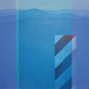 12-Memo; Cameron Highlands (Trafic Sign), 1981 RM 22,000.00-SOLD | Acrylic on canvas | 76 x 76 cm