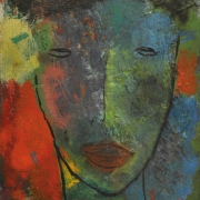 13-Watching, 1995 RM 7,150.00-SOLD | Oil on canvas | 30.5 x 23 cm