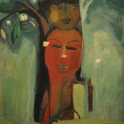 17-Affection, 1964 RM 24,200.00-SOLD   Oil on canvas laid on board   73 x 64 cm