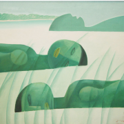 Auction I<br/>2-Three Dreamers, 1983 RM 26,400.00-SOLD | Oil on canvas | 66 x 76 cm