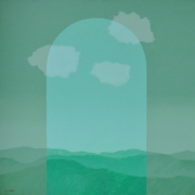 3-Clouds seen from the Arch, 1982 RM 20,900.00-SOLD | Acrylic on canvas | 91 x 91 cm