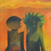 4-The Wedding 1, 1980 RM 30,800.00-SOLD | Oil on canvas | 76.2 x 76.2 cm