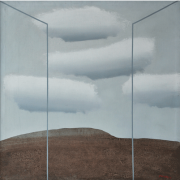 5-Clouds over the Rocks, 1982 RM 37,400.00-SOLD | Acrylic on canvas | 89.5 x 89.5 cm