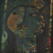 8-Innocence Series, 1990s RM 6,600.00-SOLD | Mixed media on board | 44.5 x 44.5 cm