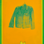 "RM 6,050.00-SOLD Kok Yew Puah ""Untitled"" (1980's) Acrylic:silkscreen on board 76 x 54.5 cm"