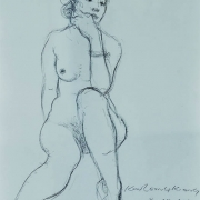 12-Nude II, 2012 RM 1,540.00-SOLD | Pen on paper | 35.5 x 27.5 cm