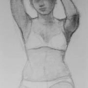 9-Bodyline Series, 2008 RM 4,620.00-SOLD | Charcoal on paper | 73.5 x 53 cm